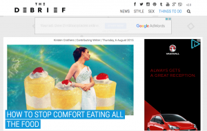 screen shot of debrief website