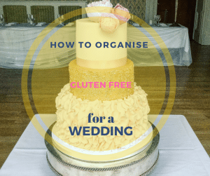 wedding cake with title across
