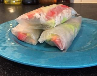 Low FODMAP Gluten Free Rice Paper Roll