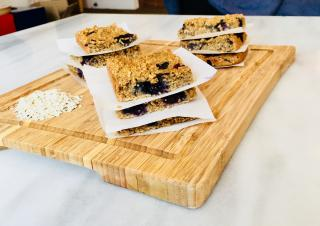 Low FODMAP, Gluten Free Blueberry Cereal Bars