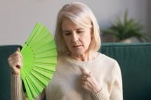 Lady with menopause and IBS